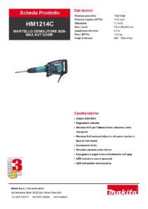 Martello demolitore elettrico Makita mod. HM1214C-page-001