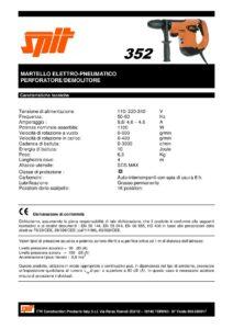 Martello demolitore perforatore elettritico Spit mod.352-page-001
