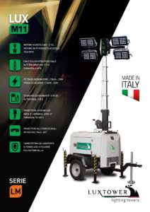 Torre faro LuxTower mod. M11 sollevamento idraulico e gruppo elettrogeno integrato-page-001