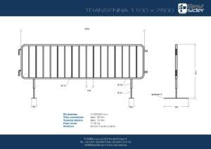 transenna BestSider mod. 1100x2500 piede roma-page-001
